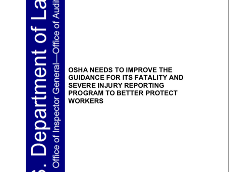Fatality and Severe Injury Reporting