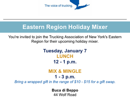 Register for the TANY Eastern Region Holiday Mixer taking place January 7th!