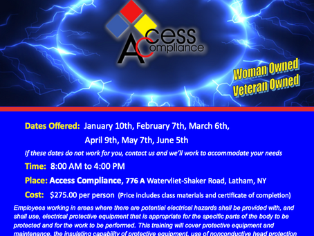 In need of Arc Flash Training? Our next class is February 7th!