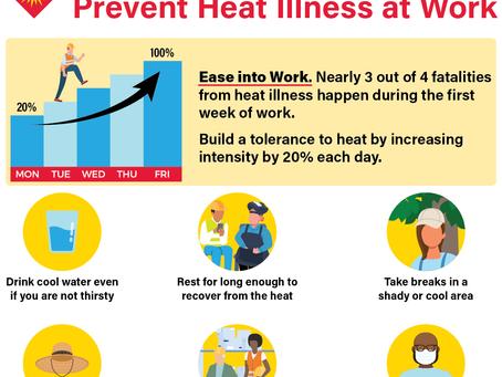 Heat Illness Prevention Infographics