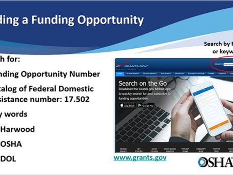 Did you know OSHA can show you how to apply for a Susan Harwood Training Grant?