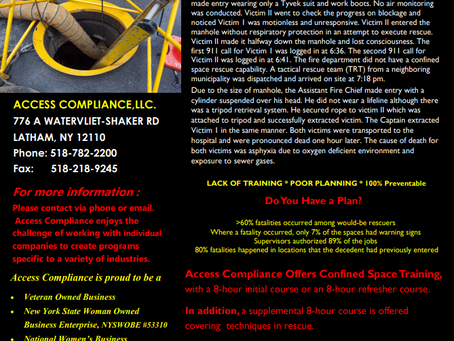 Confined Space Training!