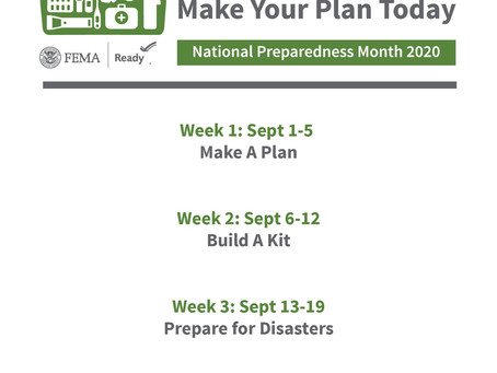 FEMA Announces 2020 National Preparedness Month Theme