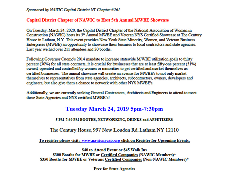 NAWIC MWBE Showcase - March 24th!