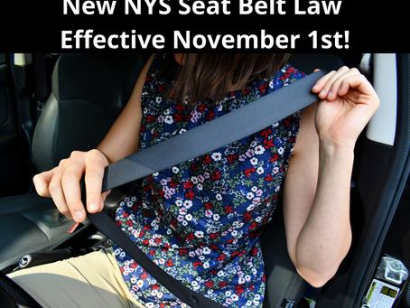 New Seat Belt Law on Nov. 1