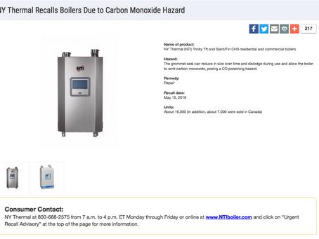 NY Thermal Recalls Boilers Due to Carbon Monoxide Hazard