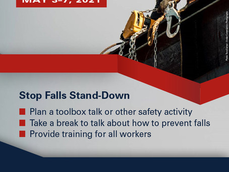 National #StandDown4Safety to Prevent Falls in Construction concludes today!