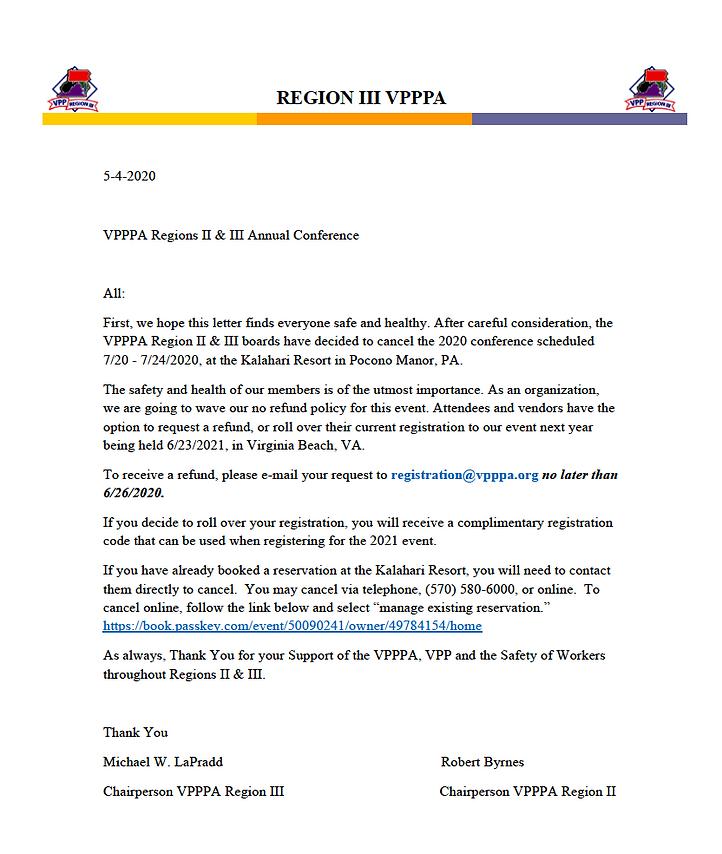 VPPPA Region II:III Conference Announcem
