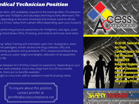 Per Diem Medical Tech Position