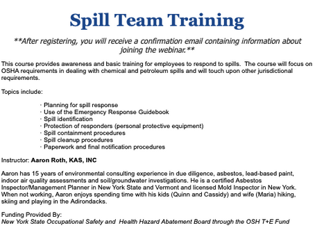 Spill Team Training