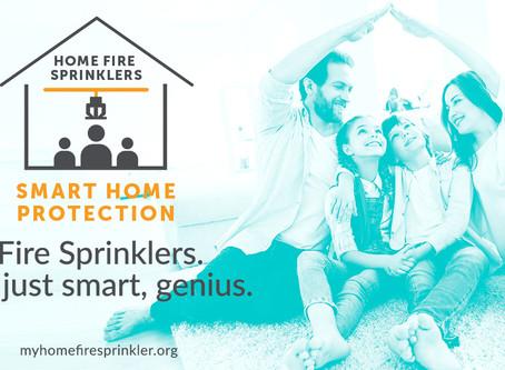 Home Fire Sprinkler Week - May 17th - 23rd!