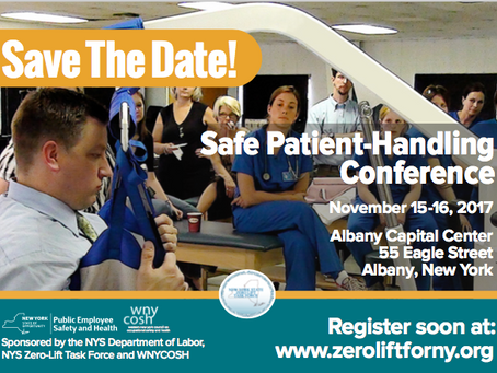 2017 New York State Safe Patient Handling Conference, Albany, NY - November 15-16, 2017