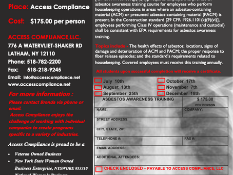 There's still time to register for our December 18th Asbestos Awareness Training!