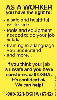 "OSHA's COVID19 Tip of the Day - ""Encourage workers to report any safety and health concerns."""