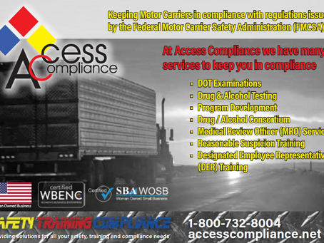 Keeping Motor Carriers in compliance with regulations issued by the FMCSA!