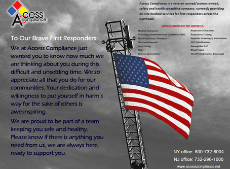 To our brave first responders, thank you!
