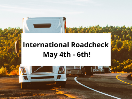 International Roadcheck May 4-6: Emphasis on Lighting and Hours of Service