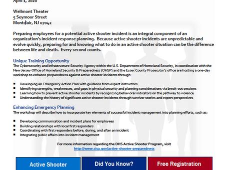 FREE TRAINING: DHS Active Shooter Workshop - April 1st