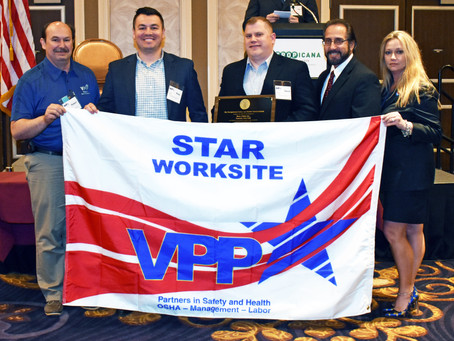 VPP Plaque and Flag Presentation -- Berry Global Region II VPPPA Conference in Atlantic City, NJ on