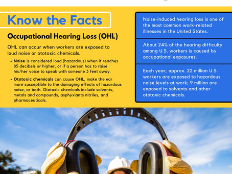 Reminder - October is National Protect Your Hearing Month!