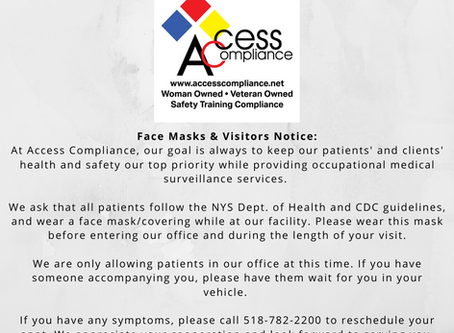 Access Compliance Face Mask and Visitors Notice!