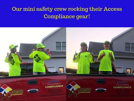 Our mini safety crew!