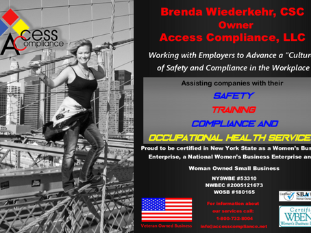 """Working with employers to advance a """"culture"""" of safety and compliance in the workplace!"""
