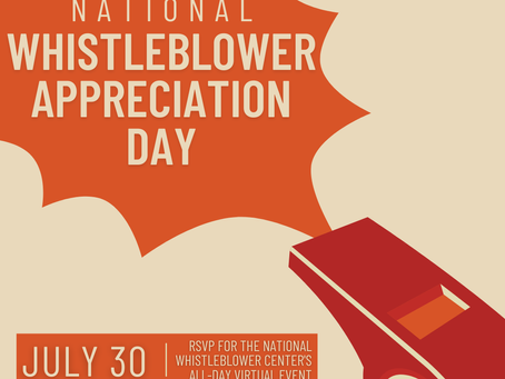 National Whistleblower Appreciation Day!
