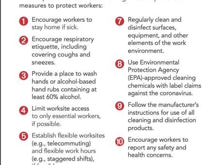 New OSHA Poster Aimed At Reducing Workplace Exposure to the Coronavirus