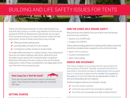 NFPA Fact Sheet - Building and Life Safety Issues for Tents