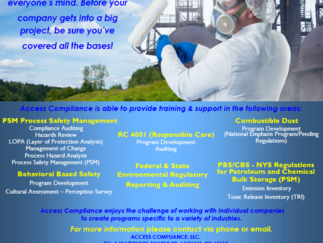 We provide training and support for a variety of EHS Services!