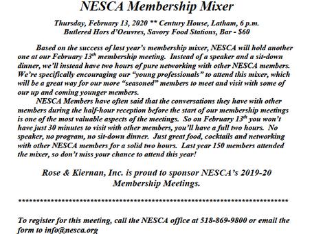 NESCA February 13th Membership Meeting