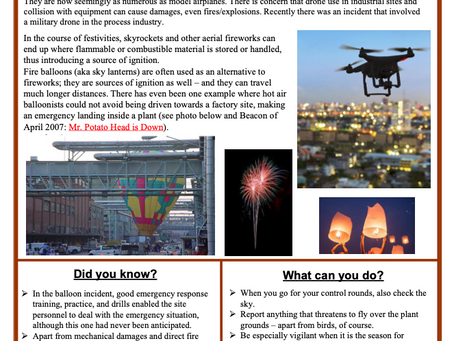 Check out the December CCPS Process Safety Beacon on Well-Identified Flying Objects