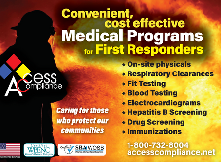 It is an honor to provide convenient and cost effective services to our First Responders!