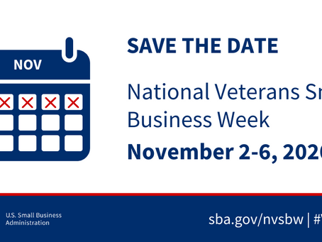 Save the Date: National Veterans Small Business Week