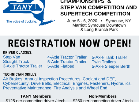 TANY NYS Truck Drive Championships & Step Van Competition & Supertech Competition - June 5th-6th!