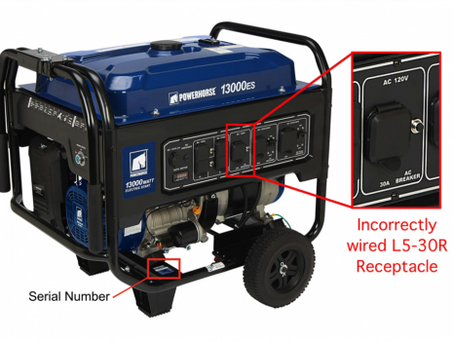 Recall: Northern Tool & Equipment Powerhorse Portable Generators Due to Shock Hazard