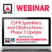 Free NFPA Webinar: ESFR Sprinklers and Obstructions