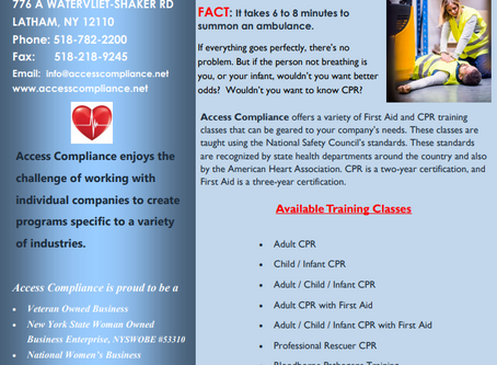 In need of First Aid / CPR / AED Training?