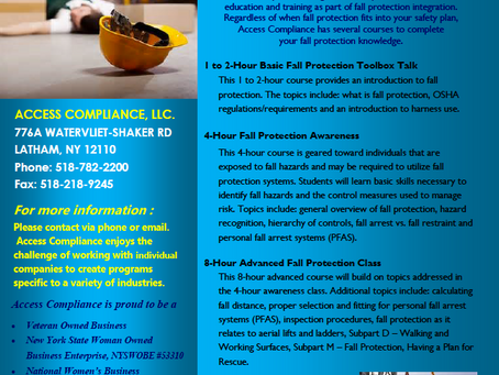 We have Fall Protection 1926.500 Sub M training scheduled for June 11th!