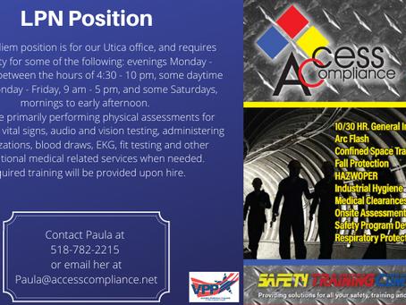 Medical Technician / LPN Per Diem Positions