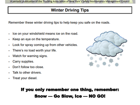 Winter Driving Tips - Preparing for Winter Storm Gail