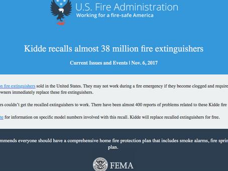 Kidde Recalls Almost 38 Million Fire Extinguishers in the U.S.