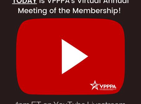 VPPPA Annual Meeting of the Membership Recording