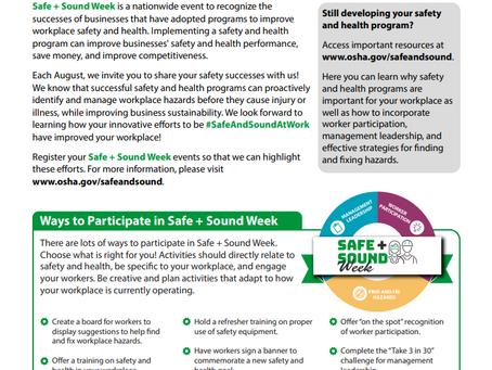 Safe + Sound Week starts on Monday!
