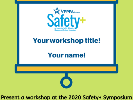 Workshop Proposals for the VPPPA 2020 Safety+ Symposium!