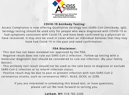 We Offer Qualitative Serological COVID-19 Antibody Testing!