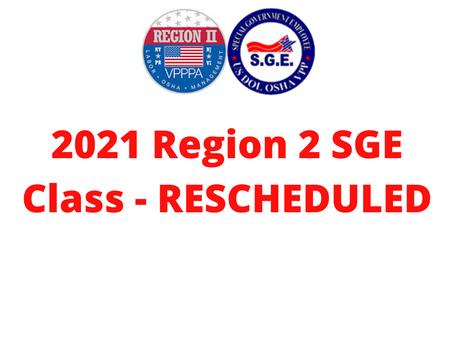 2021 SGE Class - RESCHEDULED