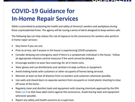 OSHA has resources to help protect workers in the service industry from the coronavirus.