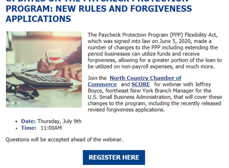 Webinar - Updates to the Paycheck Protection Program: New Rules and Forgiveness Applications